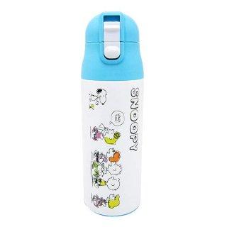 スヌーピー ワンプッシュステンレスボトル軽量 (水筒) ピクニック ランチ用品 (ORSN)