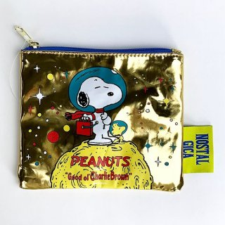 <img class='new_mark_img1' src='https://img.shop-pro.jp/img/new/icons15.gif' style='border:none;display:inline;margin:0px;padding:0px;width:auto;' />PEANUTS スヌーピー コスメティックポーチ スペース ポーチ ゴールド グッズ