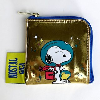 <img class='new_mark_img1' src='https://img.shop-pro.jp/img/new/icons15.gif' style='border:none;display:inline;margin:0px;padding:0px;width:auto;' />PEANUTS スヌーピー コインパース スペース コインケース ゴールド グッズ