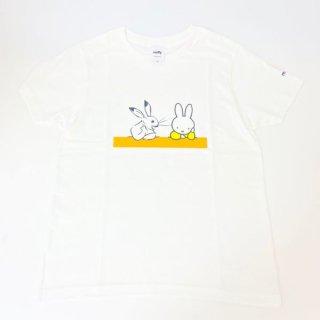miffy ミッフィー Tシャツ XSサイズ Miffy×鳥獣戯画 隣人 洋服 鳥獣戯画 グッズ(MCD)