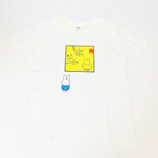 <img class='new_mark_img1' src='https://img.shop-pro.jp/img/new/icons15.gif' style='border:none;display:inline;margin:0px;padding:0px;width:auto;' />miffy ミッフィー Tシャツ XSサイズ Miffy×鳥獣戯画 額縁・おばけ 洋服 鳥獣戯画 グッズ