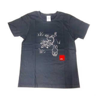 <img class='new_mark_img1' src='https://img.shop-pro.jp/img/new/icons15.gif' style='border:none;display:inline;margin:0px;padding:0px;width:auto;' />miffy ミッフィー Tシャツ XSサイズ Miffy×鳥獣戯画 灰色 洋服 鳥獣戯画 グッズ