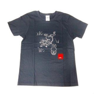 miffy ミッフィー Tシャツ XSサイズ Miffy×鳥獣戯画 灰色 洋服 鳥獣戯画 グッズ