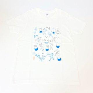 miffy ミッフィー Tシャツ XSサイズ Miffy×鳥獣戯画 みんな・いっぱい 洋服 鳥獣戯画 グッズ