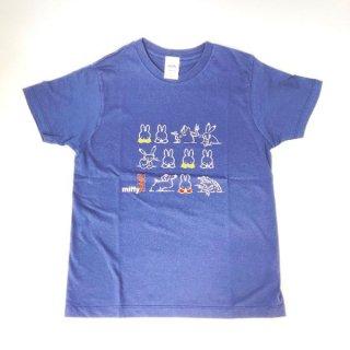 miffy ミッフィー Tシャツ XSサイズ Miffy×鳥獣戯画 にぎやか 洋服 鳥獣戯画 グッズ