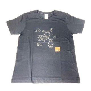 miffy ミッフィー Tシャツ Mサイズ Miffy×鳥獣戯画 灰色 洋服 鳥獣戯画 グッズ