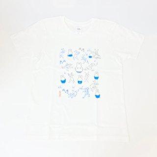 miffy ミッフィー Tシャツ Mサイズ Miffy×鳥獣戯画 みんな・いっぱい 洋服 鳥獣戯画 グッズ