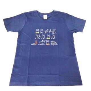 miffy ミッフィー Tシャツ Mサイズ Miffy×鳥獣戯画 にぎやか 洋服 鳥獣戯画 グッズ