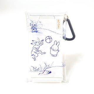 miffy ミッフィー クリアマルチケースS 鞠飛び Miffy×鳥獣戯画 マルチケース 小物入れ グッズ  (MCOR)(MCD)