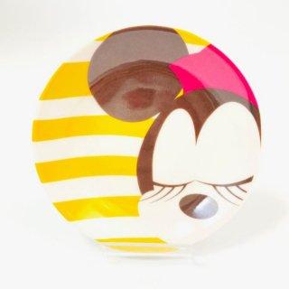 <img class='new_mark_img1' src='https://img.shop-pro.jp/img/new/icons15.gif' style='border:none;display:inline;margin:0px;padding:0px;width:auto;' />ディズニー ミニー プレート フェイス 食器 お皿 醤油皿 Disney イエロー グッズ 日本製
