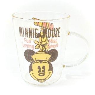 <img class='new_mark_img1' src='https://img.shop-pro.jp/img/new/icons15.gif' style='border:none;display:inline;margin:0px;padding:0px;width:auto;' />ディズニー ミニー 耐熱ガラスマグ コップ 食器 マグカップ Disney グッズ