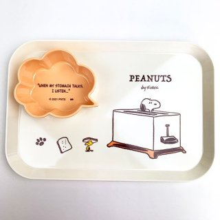 <img class='new_mark_img1' src='https://img.shop-pro.jp/img/new/icons15.gif' style='border:none;display:inline;margin:0px;padding:0px;width:auto;' />スヌーピー SNOOPY メラミンプレート TOAST プレート お皿 食器 キッチン メラミン ホワイト グッズ