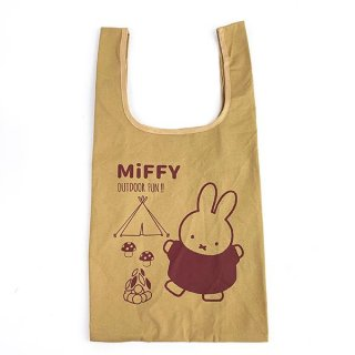 <img class='new_mark_img1' src='https://img.shop-pro.jp/img/new/icons15.gif' style='border:none;display:inline;margin:0px;padding:0px;width:auto;' />ミッフィー miffy キャンプシリーズ マルシェバッグ マルシェバッグ バッグ エコ コンパクト 収納 お出かけ 買い物 ブラウン