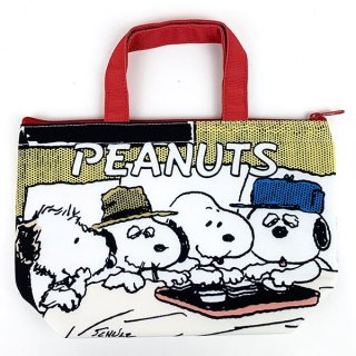 <img class='new_mark_img1' src='https://img.shop-pro.jp/img/new/icons15.gif' style='border:none;display:inline;margin:0px;padding:0px;width:auto;' />スヌーピー PEANUTS 保冷保温ミニトート SN ブラザーズ エコバッグ バッグ エコ コンパクト 収納 お出かけ 買い物 ホワイト