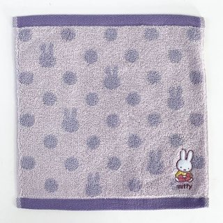 <img class='new_mark_img1' src='https://img.shop-pro.jp/img/new/icons15.gif' style='border:none;display:inline;margin:0px;padding:0px;width:auto;' />ミッフィー miffy ワンポイント刺繍ハンカチ PU プレゼント タオル ハンカチ パープル グッズ