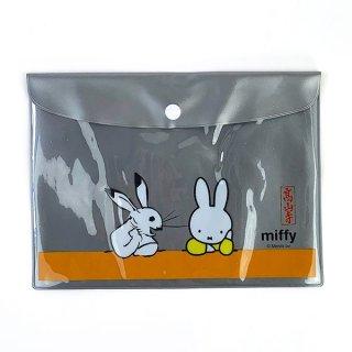 ミッフィー miffy miffy×鳥獣戯画 フラットケース 隣人 フラットポーチ  グッズ