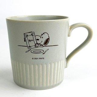 店内セール開催中!10%オフ対象商品 スヌーピー マグカップ テーブル柄 スヌーピー キッチン  和風 レトロ ベージュ  日本