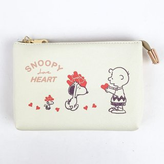 <img class='new_mark_img1' src='https://img.shop-pro.jp/img/new/icons15.gif' style='border:none;display:inline;margin:0px;padding:0px;width:auto;' />スヌーピー PEANUTS 3ポケットポーチ ハート ポーチ 小物入れ  グッズ  (MCOR)