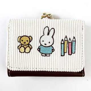 <img class='new_mark_img1' src='https://img.shop-pro.jp/img/new/icons15.gif' style='border:none;display:inline;margin:0px;padding:0px;width:auto;' />ミッフィー Miffy コンパクト財布 ワッペンシリーズ WH 財布 ミニ財布  ホワイト グッズ  (MCOR)