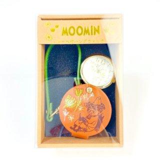 ムーミン スナフキン ルーペ付きハングウォッチ BR 懐中時計 ブラウン グッズ 日本製