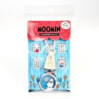 店内セール開催中!10%オフ対象商品 ムーミン Moomin カラビナ付きウォッチ GY ウォッチ アクセサリー  グレー グッズ 日本製
