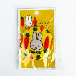 <img class='new_mark_img1' src='https://img.shop-pro.jp/img/new/icons15.gif' style='border:none;display:inline;margin:0px;padding:0px;width:auto;' />ミッフィー CARROT 刺繍缶バッジ YE バッジ アクセサリー イエロー