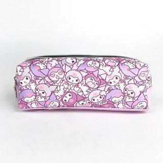 サンリオ クロミ Wファスナーペンポーチ ぎゅうぎゅう 文具 筆箱 可愛い ふでばこ 軽量 シンプル  (MCOR)