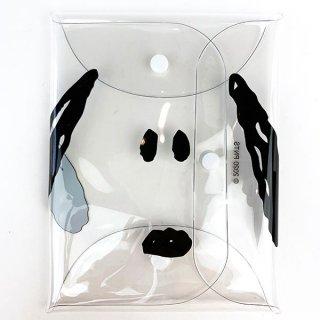 スヌーピー Snoopy CLEAR MULTI CASE LL フェイス正面 マルチケース ケース ポーチ LL 抗菌 (MCOR)