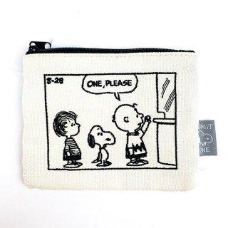 スヌーピー ティッシュポーチ 刺繍コミックチケット 小物入れ コンパクト