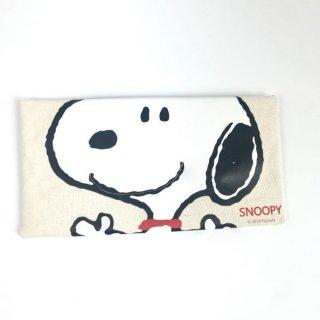 スヌーピー Peanuts プリントティッシュケース カー用品 ホワイト