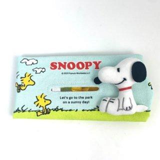 スヌーピー Peanuts ティッシュケース スヌーピー サニー カー用品 水色
