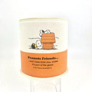 スヌーピー Peanuts ダストボックス スヌーピー&フレンズ カー用品 オレンジ