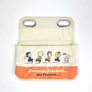 スヌーピー Peanuts シートバックポケット スヌーピー&フレンズ カー用品 オレンジ