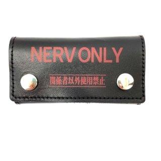 エヴァンゲリオン NERV EVANGELION ネルフ 本革キーケース キーケース ブラック   日本製