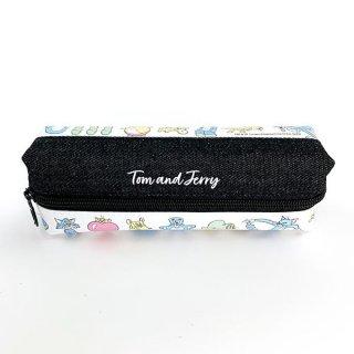 店内セール開催中!10%オフ対象商品 トムとジェリー ペンポーチ ペンケース 筆箱 黒