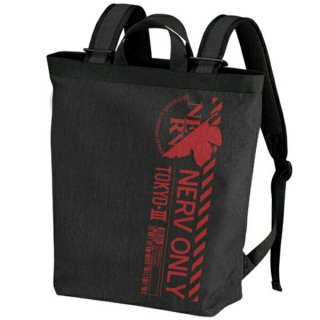 新世紀エヴァンゲリオン ネルフ 2wayハ゛ックハ゜ック BLACK リュック バッグ