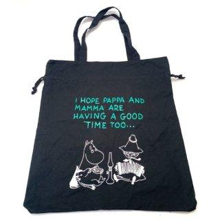 店内セール開催中!10%オフ対象商品 ムーミン 巾着トートバッグ ブラック かばん おでかけ
