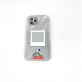 スヌーピー PEANUTS SHOWCASE+ iPhone12/12Pro タイプライター スマホカバー アイフォンケース