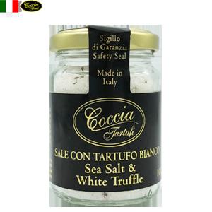 天然 白トリュフ塩 Sea Salt & White Truffle 100g  | COCCIA TARTUFI [ コッチャ タルトゥーフィ社]