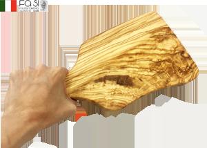 曲線美 オリーブウッド カッティングボード 自然素材(小サイズ)manico curvo piccolo-32×15,5�