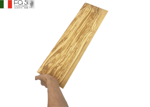【1点もの】長い皿 波模様 オリーブウッド カッティングボード 自然素材(大サイズ)manico curvo Rustico piccolo 50�