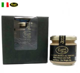 【ギフトBOX付】白ヴルーテソース黒トリュフ  White Veloute with truffle  | COCCIA TARTUFI [ コッチャ タルトゥーフィ社]