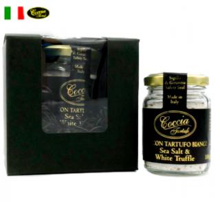 【ギフトボックス付】天然 白トリュフ塩 Sea Salt & White Truffle 100g  | COCCIA TARTUFI [ コッチャ タルトゥーフィ社]