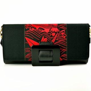 KIMONO Clutch (OBI&Leather)