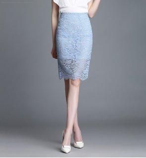 花柄 レース ミディアム ハイウエスト エレガント スカート 3色 (58097838)