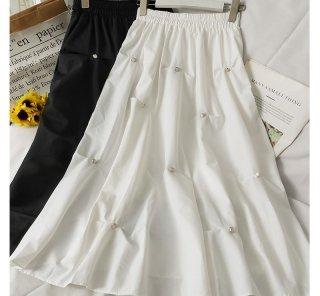 Aライン シンプル ナチュラル ふんわり キュート スカート 2色 (69412442)