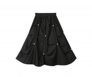 可愛い キュート パール プリーツ ハイウエスト スカート 2色 (69412927)