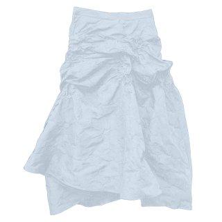 ジャガード 立体 エンボス アシンメトリー ミディ スカート 2色 (69541151)
