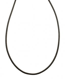 シルバー925金具 日本製 本革 牛 レザーコード 革紐 幅約2mm [ブラック] 40cm-80cm
