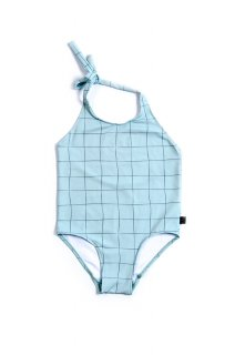 <img class='new_mark_img1' src='https://img.shop-pro.jp/img/new/icons24.gif' style='border:none;display:inline;margin:0px;padding:0px;width:auto;' />Teal Grid Swimsuit  50%off